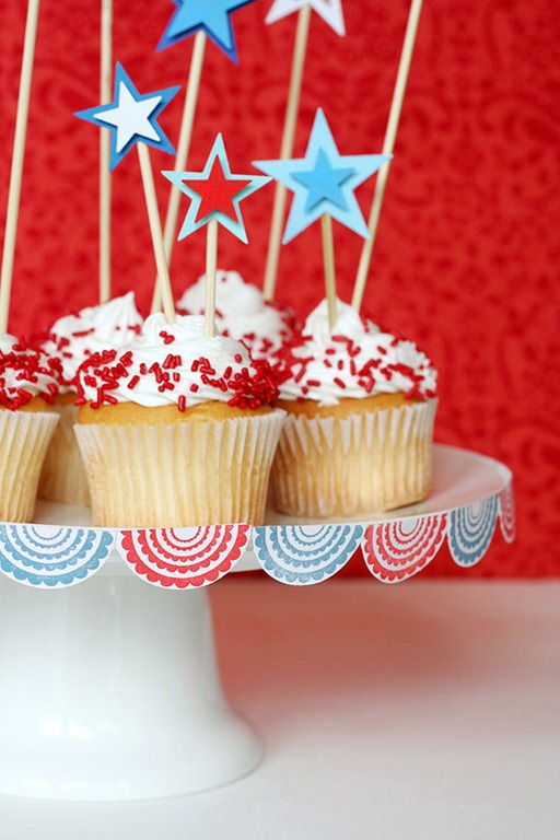 Cupcake Decorating Ideas For 4th Of July : Fourth of July Party Ideas : Decorations of Independence ...