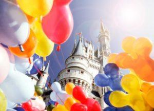 balloons over magic kingdom