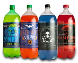halloween poison drink labels