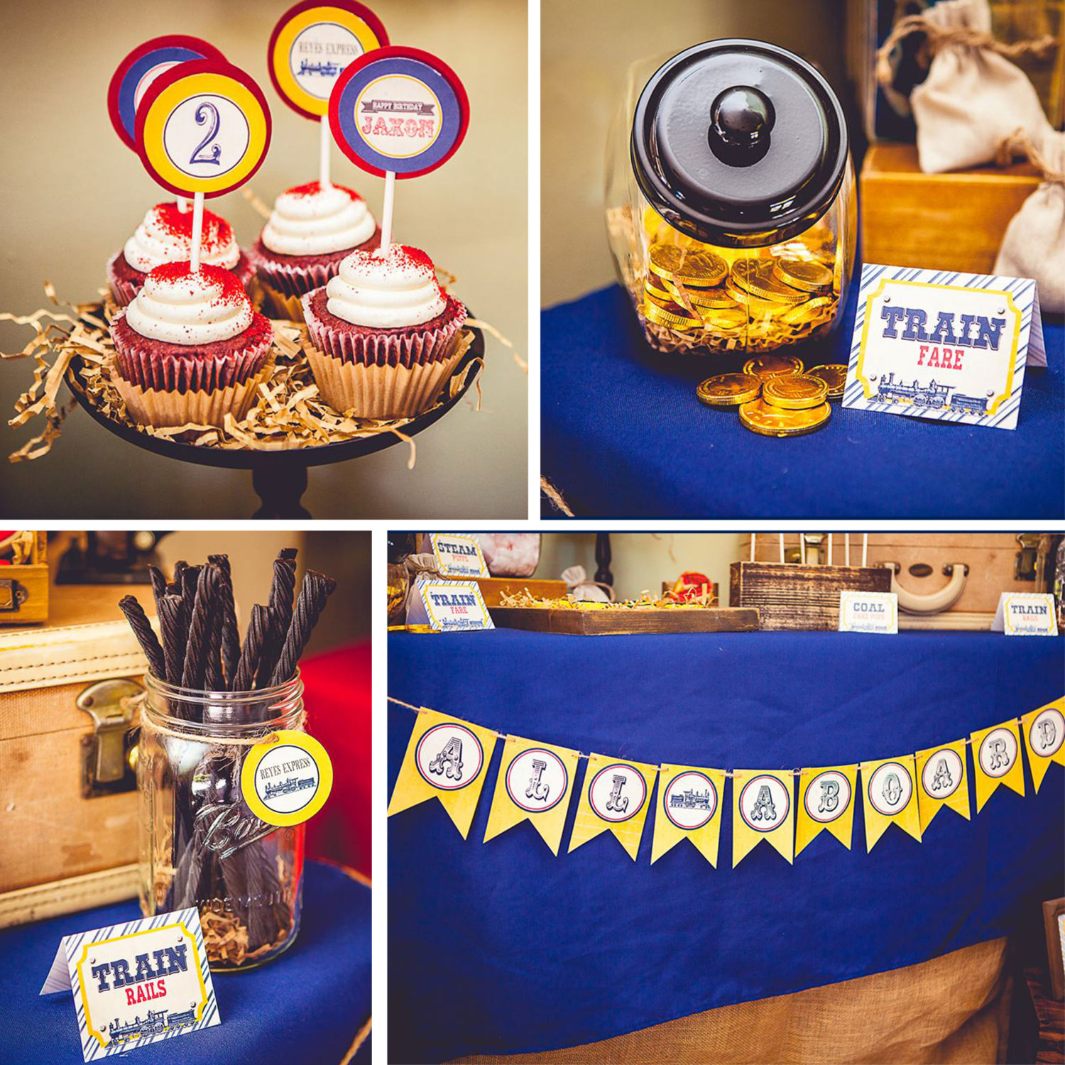 train printable party decor