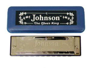 small blue harmonica