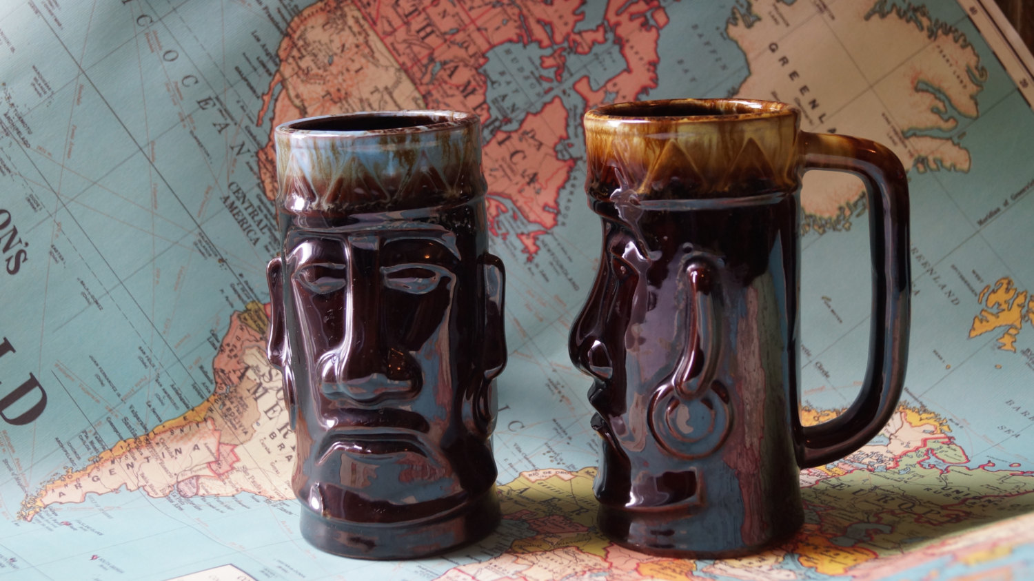 tiki head mugs