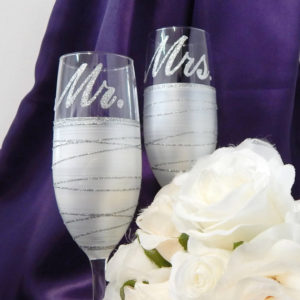 silver wine glasses