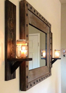 rustic wood wall sconces