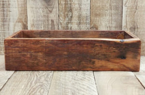 reclaimed wood centerpiece box