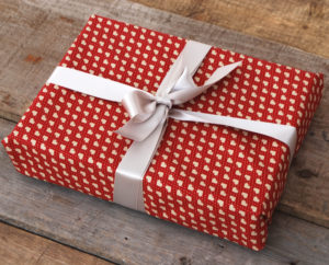 Red fabric wrapping paper
