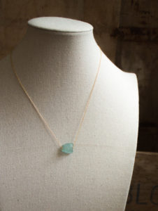 raw aquamarine necklace