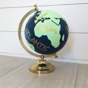 handpainted globe