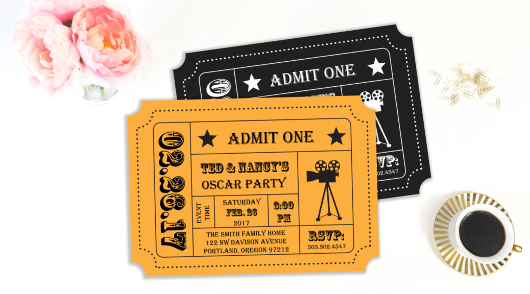 oscar party invitation