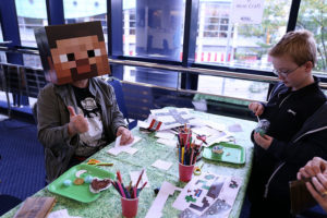 mine craft party table