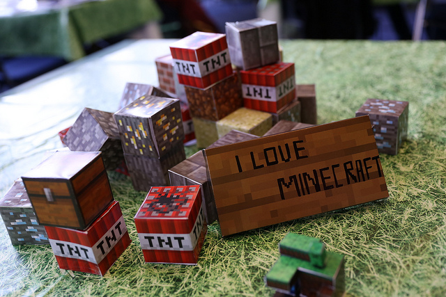 diy minecraft party crafts