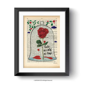 enchanted rose print