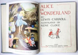 vintage lewis carroll book