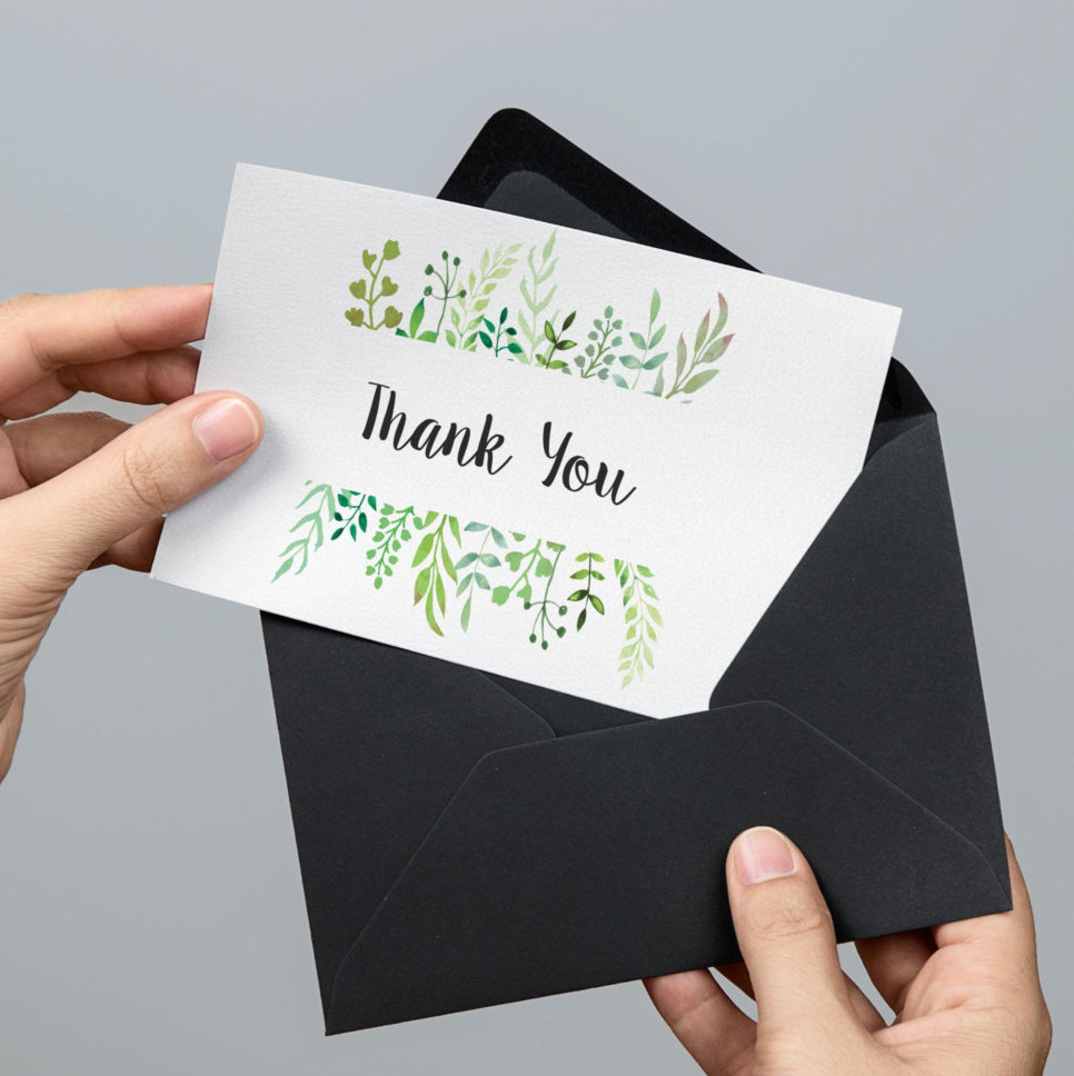 thank you note etiquette diy marbled handmade cards to express your
