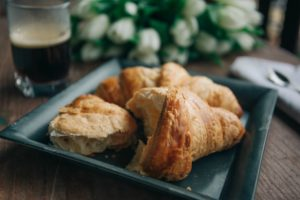 homemade buttery croissants