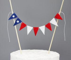 american flag cake topper banner