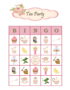 custom tea bingo