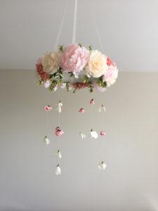 floral hanging chandelier