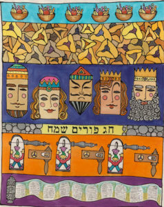 the story of purim art