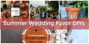 DIY summer wedding favor ideas