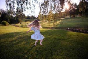 only child outdoor summer activities