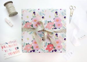 gift wrap for a sweet sixteen birthday
