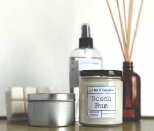 Beach Bum Candle for a Gift Basket