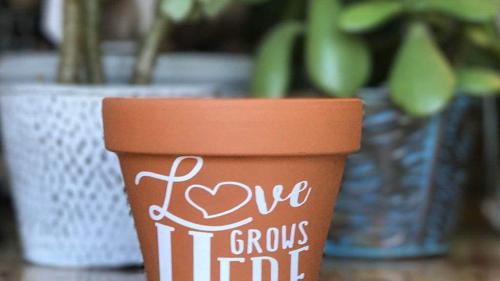 love grows wedding favor DIY
