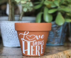 love grows wedding favor DIY