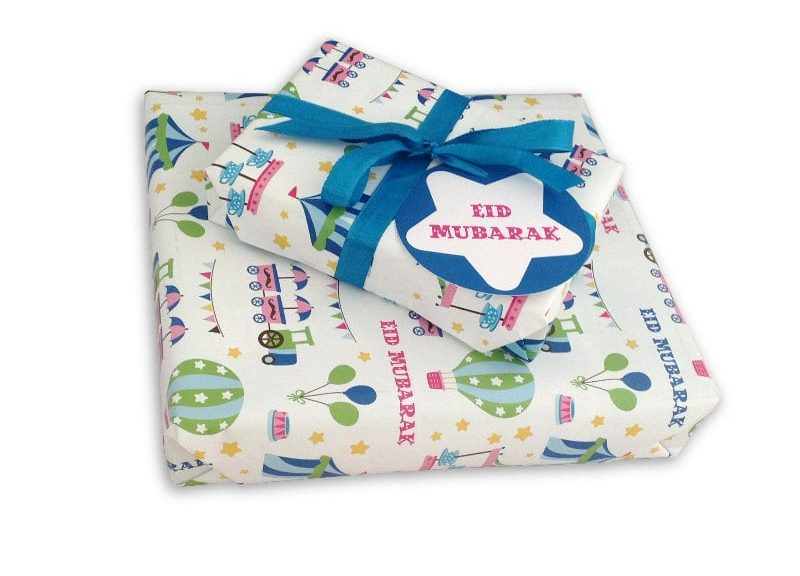 Eid al-Fitr gift wrapping