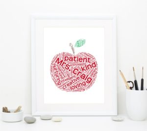 a creative apple gift for teacher