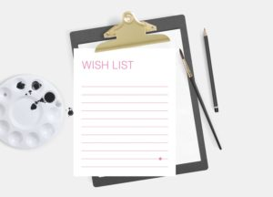 birthday present wish lists