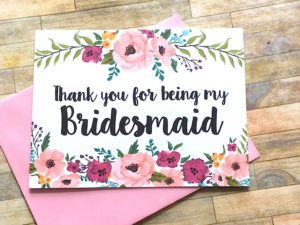 thank you bridesmaid gift