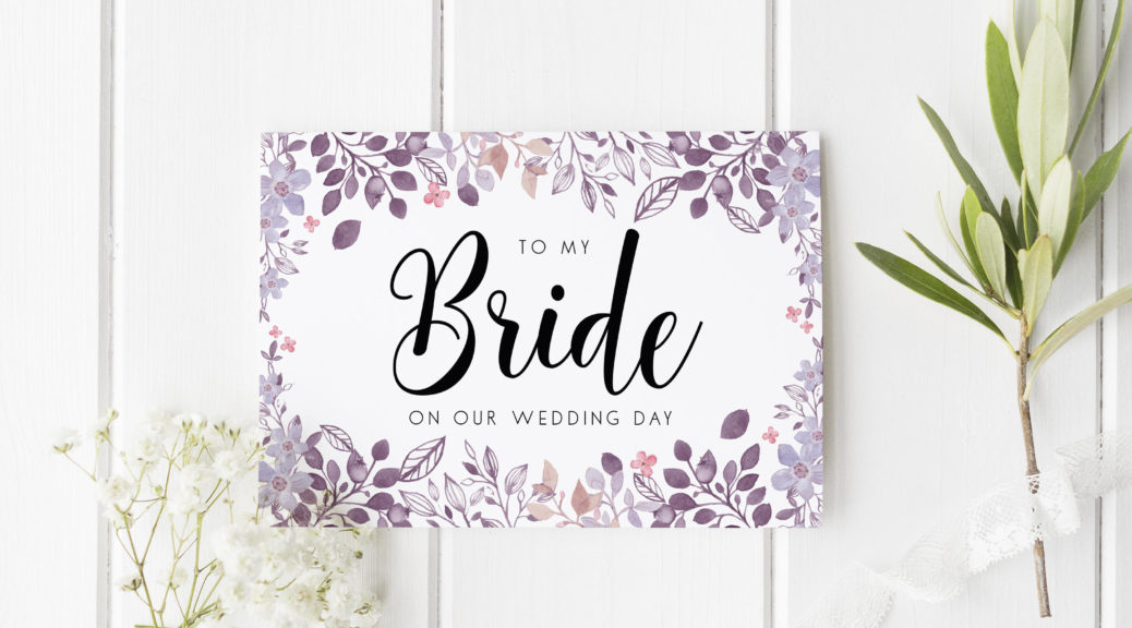 a wedding card gift for your bride