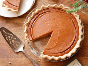 Pumpkin pie to wrap up Thanksgiving festivities