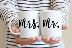 mr and mrs personalized wedding gifts