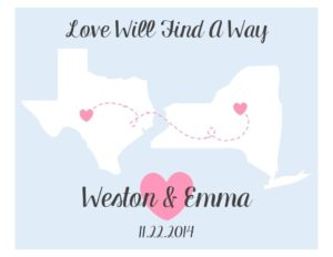 love will find a way personalized wedding gift