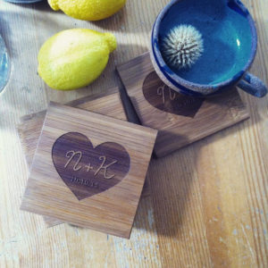 personalized wood wedding presents