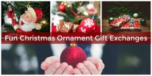 Host a Christmas ornament themed gift exchange