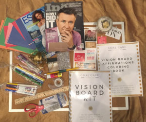 A vision board to celebrate New Year's Eve