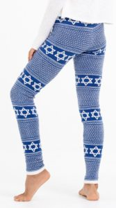 Hanukkah-themed leggings.