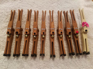 Clothespin reindeer ornaments