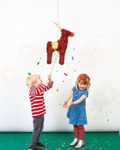 Using a pinata for a Secret Santa game