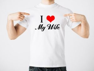 "Give him a fun ""I love my wife/girlfriend"" shirt."