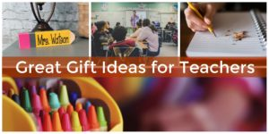 Great gift ideas for teachers.