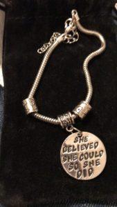A motivational bracelet.