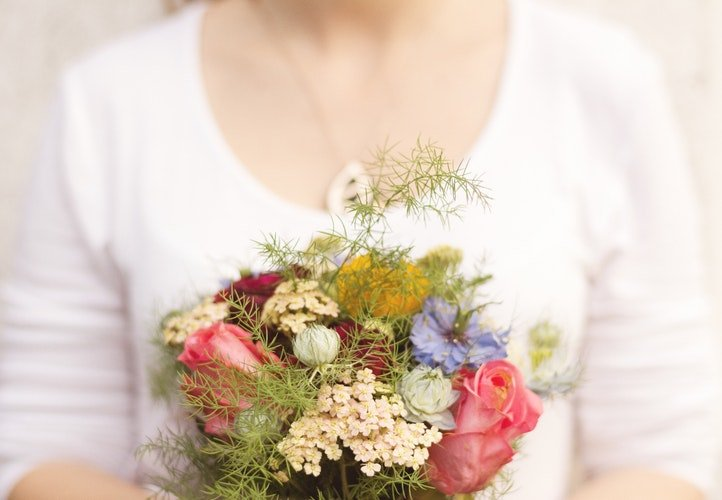 Fresh flowers as an unexpected gift.