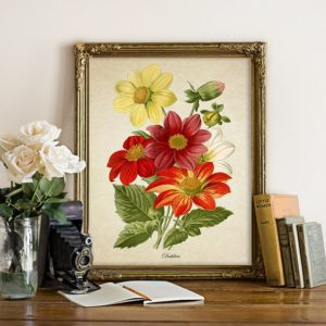 A flower print.