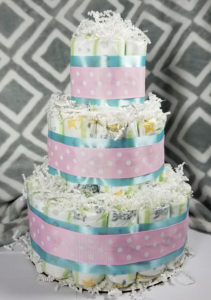 Diaper cakes are fun and useful!