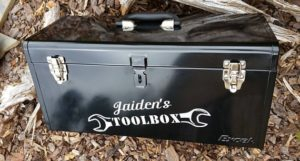 Personalized toolbox for dad.